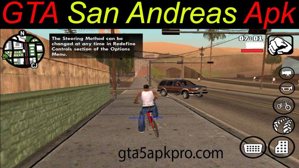 GTA San Andreas 2.00 Apk Full Mod + OBB Data For Android